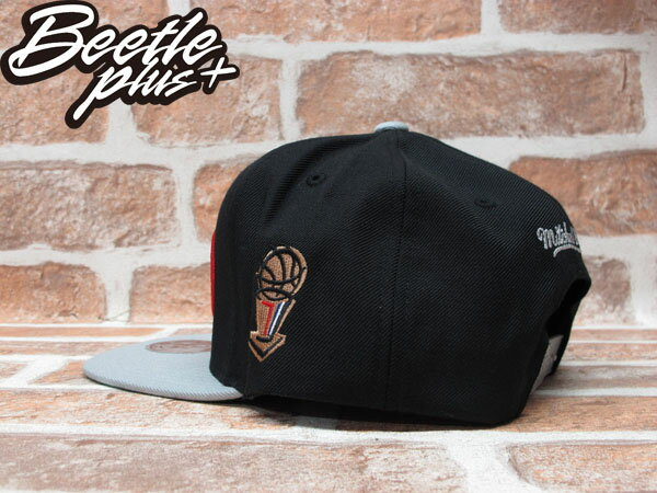 BEETLE PLUS MITCHELL&NESS NBA 聖安東尼奧 馬刺 SPURS 1999 總冠軍 FINALS LOGO 灰黑 SNAPBACK 後扣棒球帽 MN-241 2
