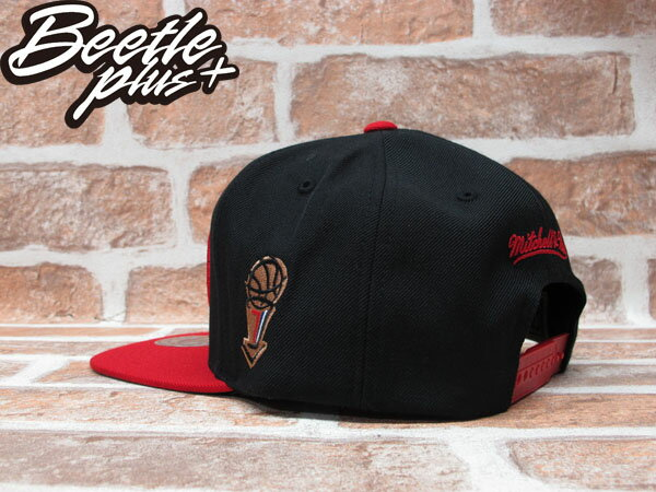 BEETLE PLUS MITCHELL&NESS NBA 芝加哥 公牛 BULLS 1998 總冠軍 FINALS LOGO 黑紅 SNAPBACK 後扣棒球帽 MN-243 2