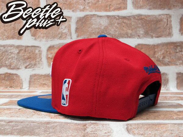 BEETLE PLUS 全新 MITCHELL&NESS NBA 洛杉磯 快艇 LA CLIPPERS PUAL 草寫 文字 紅藍 SNAPBACK 後扣棒球帽 MN-245 1