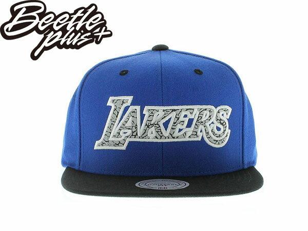BEETLE PLUS MITCHELL&NESS NBA 洛杉磯 湖人 KOBE LAKERS 刺繡 爆裂紋 道奇 布萊恩 林書豪 LOGO 藍白黑 後扣 棒球帽 SNAPBACK 0