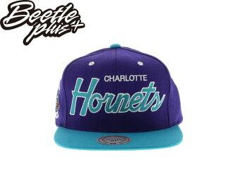 BEETLE PLUS MITCHELL&NESS NBA 夏洛特 黃蜂 HORNETS JORDAN 喬丹 PAUL 文字 LOGO 隊徽 刺繡 紫水藍 後扣 復古 棒球帽 SNAPBACK