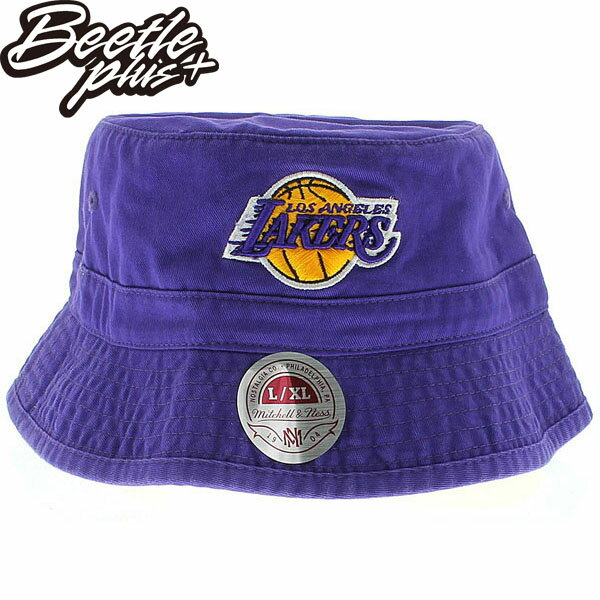 BEETLE PLUS 全新 MITCHELL&NESS NBA 洛杉磯 湖人 LAKERS LOGO 紫黃 林書豪 遮陽帽 漁夫帽 BUCKET HAT MN-274