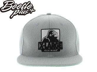 BEETLE PLUS 全新 現貨 X-LARGE CLOTHING 猩猩 全灰 LOGO 文字 SNAPBACK 後扣棒球帽