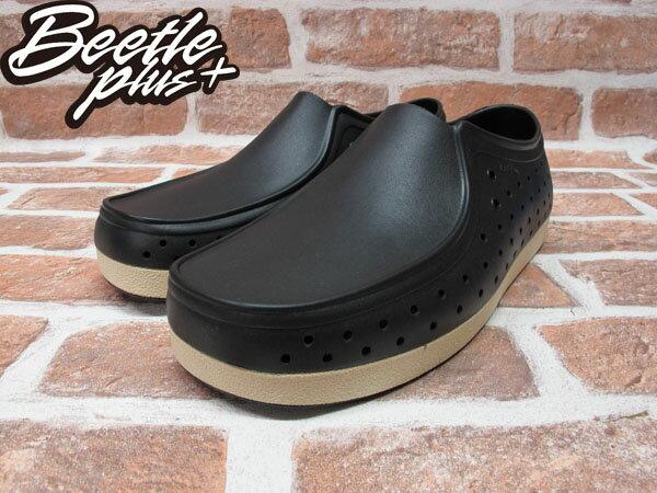 BEETLE PLUS 西門町正規經銷 現貨 NATIVE CORRADO 抗菌 黑白 奶油底 袋鼠鞋 GLM03-001 1