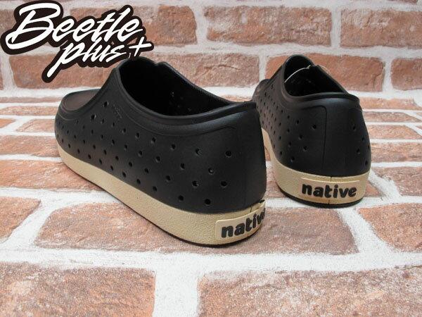 BEETLE PLUS 西門町正規經銷 現貨 NATIVE CORRADO 抗菌 黑白 奶油底 袋鼠鞋 GLM03-001 2