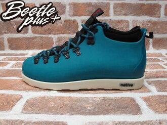 《下殺$1699》BEETLE PLUS 西門町專賣店 全新 NATIVE FITZSIMMONS BOOTS 登山靴 SCUBA GREEN 湖水綠 GLM06-348