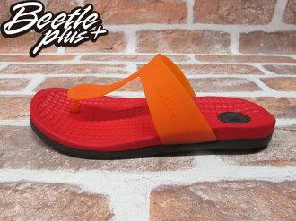 BEETE PLUS 西門町 NATIVE BLANCA 超輕量 TORCH RED WITH BEAVER BROWN 夾腳 拖鞋 紅 咖啡 防水 GLM12B-649