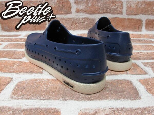 《下殺$1599》西門町專賣 BEETLE PLUS 全新 NATIVE HOWARD 超輕量 呼吸 奶油頭 深藍 BLUE 帆船鞋 GLM11-485 2