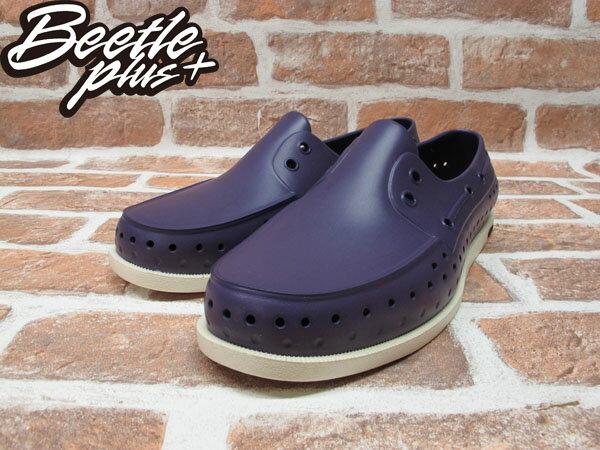 BEETLE PLUS 2012 西門町專賣 全新 NATIVE HOWARD 奶油底 MOTOWN PURPLE 深紫 帆船鞋 GLM11-544 1