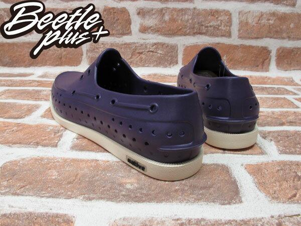 BEETLE PLUS 2012 西門町專賣 全新 NATIVE HOWARD 奶油底 MOTOWN PURPLE 深紫 帆船鞋 GLM11-544 2