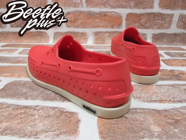 BEETLE PLUS 全新 現貨 NATIVE HOWARD HOT SAUCE RED 雷根 呼吸 粉桃紅 帆船鞋 奶油底 GLM11-646 2