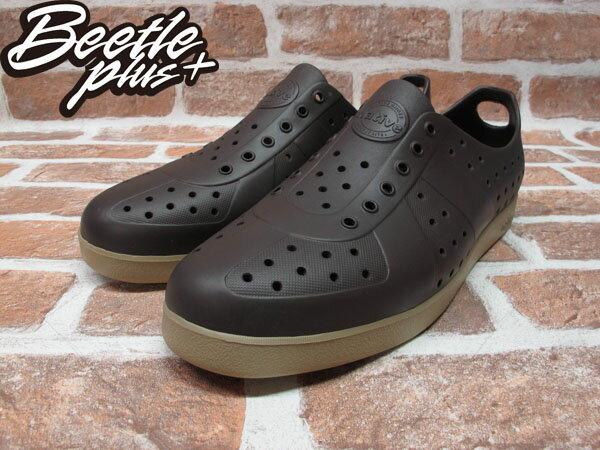 BEETLE PLUS 西門町實體店面 NATIVE HUGO 超輕量 德軍訓練鞋 時尚 咖啡 BROWN GLM23-249 1