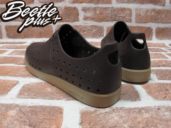 BEETLE PLUS 西門町實體店面 NATIVE HUGO 超輕量 德軍訓練鞋 時尚 咖啡 BROWN GLM23-249 2