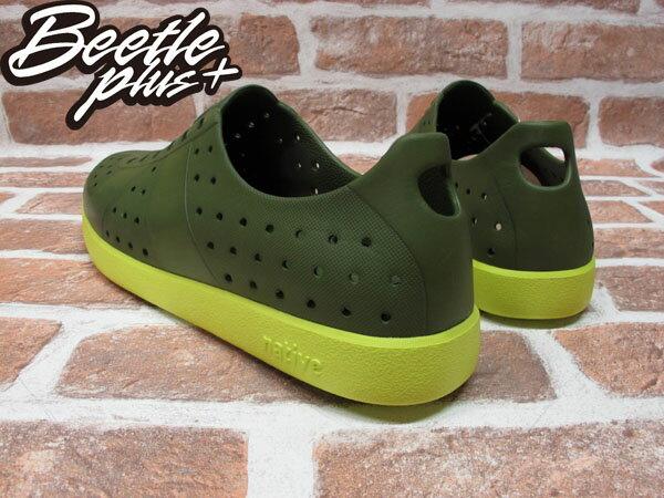 BEETLE PLUS 西門町經銷 全新 加拿大品牌 NATIVE HUGO 超輕量 德軍訓練鞋 芥末綠 螢光黃底 FIZZ GLM23-351 2