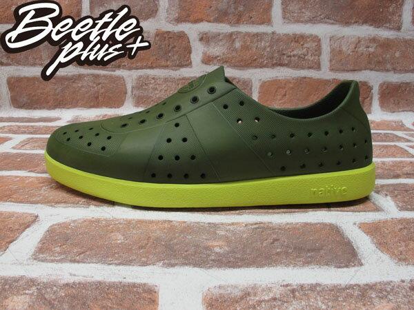 BEETLE PLUS 西門町經銷 全新 加拿大品牌 NATIVE HUGO 超輕量 德軍訓練鞋 芥末綠 螢光黃底 FIZZ GLM23-351 0