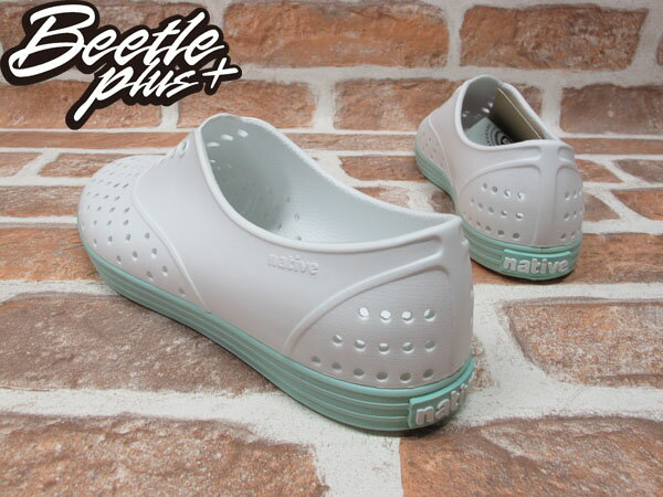 BEETLE PLUS 全新 NATIVE SHOES JERICHO SHELL WHITE ISLAND GREEN 白 湖水綠 馬卡龍 女鞋 GLM04W-139 2