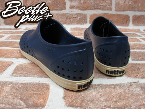 BEETLE PLUS 西門町專賣 全新 NATIVE SHOES JERICHO REGATTA BLUE 深藍 奶油底 GLM04W-485 2