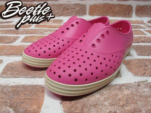 BEETLE PLUS 西門町經銷 全新 加拿大品牌 NATIVE JERICHO 粉紅 HOLLYWOOD PINK 超輕 馬卡龍 路嘉怡 女鞋 GLM04W-690 1