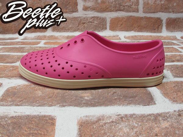 BEETLE PLUS 西門町經銷 全新 加拿大品牌 NATIVE JERICHO 粉紅 HOLLYWOOD PINK 超輕 馬卡龍 路嘉怡 女鞋 GLM04W-690 0