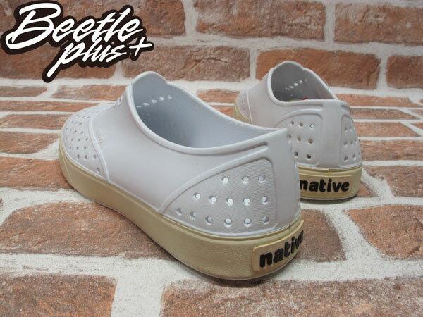 BEETLE PLUS 西門町經銷 現貨 NATIVE MILLER 超輕量 便鞋 白 SHELL WHITE 奶油底 GLM02-110 2
