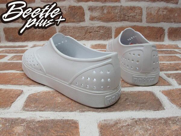 《下殺$1499》BEETLE PLUS 西門町經銷 現貨 NATIVE MILLER 超輕量 便鞋 WHITE 全白 奶油底 GLM02-125 2