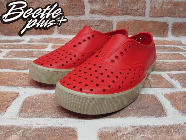 BEETLE PLUS 西門町經銷 現貨 NATIVE MILLER 超輕量 便鞋 紅色 RED 奶油底 GLM02-642 1