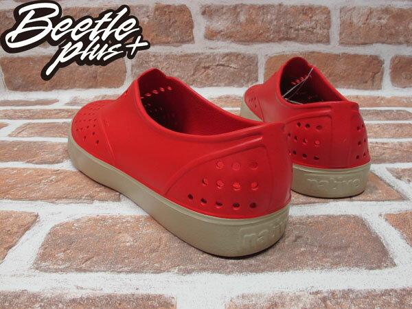 BEETLE PLUS 西門町經銷 現貨 NATIVE MILLER 超輕量 便鞋 紅色 RED 奶油底 GLM02-642 2