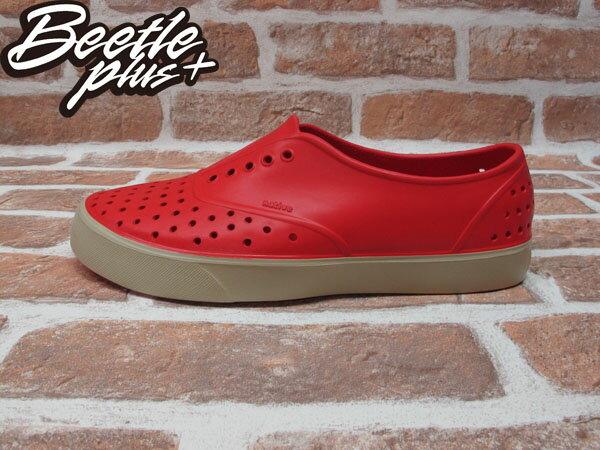 BEETLE PLUS 西門町經銷 現貨 NATIVE MILLER 超輕量 便鞋 紅色 RED 奶油底 GLM02-642 0