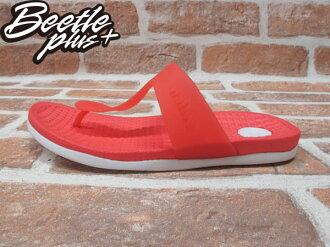 BEETE PLUS 西門町 NATIVE BLANCA 超輕量 HOT SAUCE RED WITH SHELL WHITE 夾腳 拖鞋 橘 白 防水 GLM12B-647