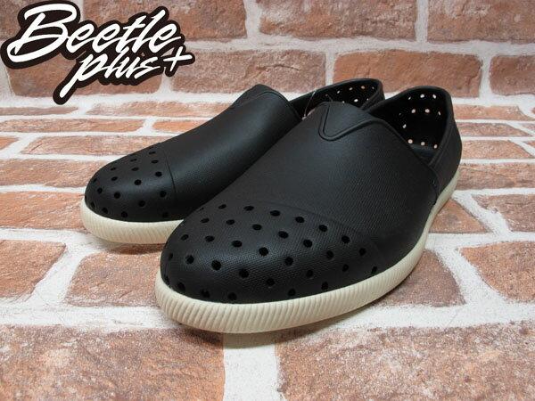 《下殺$1499》BEETLE PLUS 西門町專賣店 全新 NATIVE VERONA 水手鞋 超輕量 黑白 JIFFY BLACK GLM18-001 1