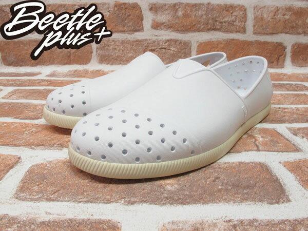 BEETLE PLUS 西門町專賣店 全新 NATIVE VERONA 水手鞋 超輕量 白奶油 SHELL WHITE GLM18-110 1
