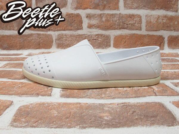 BEETLE PLUS 西門町專賣店 全新 NATIVE VERONA 水手鞋 超輕量 白奶油 SHELL WHITE GLM18-110 0