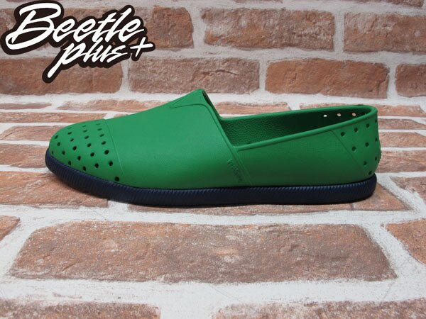 《下殺$1499》BEETLE PLUS 西門町經銷 現貨 NATIVE VERONA PICNIC GREEN WITH REGATTA BLUE 蔬菜綠藍 水手鞋 GLM18-362 0
