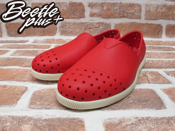 BEETLE PLUS 西門町專賣店 全新 NATIVE VERONA 水手鞋 超輕 紅 奶油底 RED GLM18-642 1