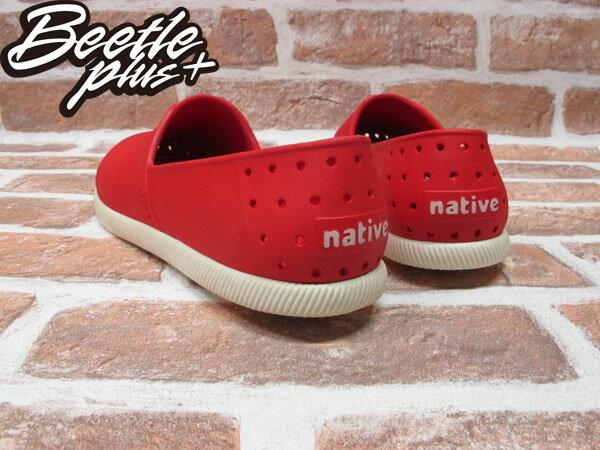 BEETLE PLUS 西門町專賣店 全新 NATIVE VERONA 水手鞋 超輕 紅 奶油底 RED GLM18-642 2