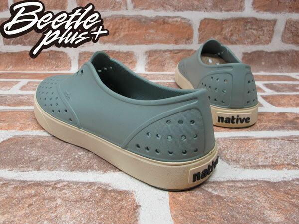 西門町實體店面 BEETLE PLUS 加拿大 NATIVE MILLER 超輕量 便鞋 淺灰綠 奶油底 GLM02-066 2