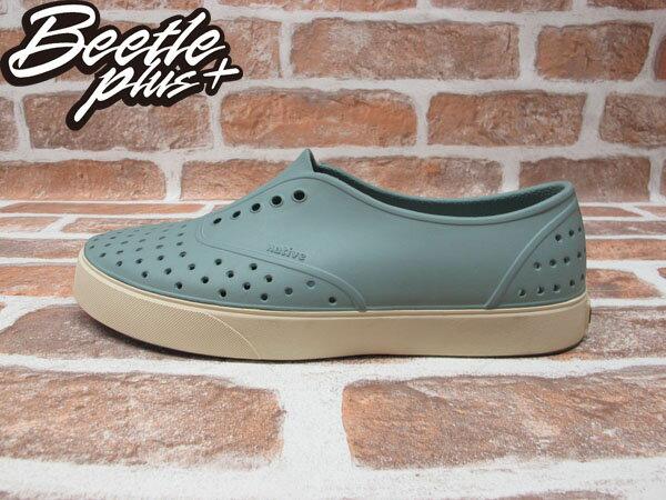 西門町實體店面 BEETLE PLUS 加拿大 NATIVE MILLER 超輕量 便鞋 淺灰綠 奶油底 GLM02-066 0