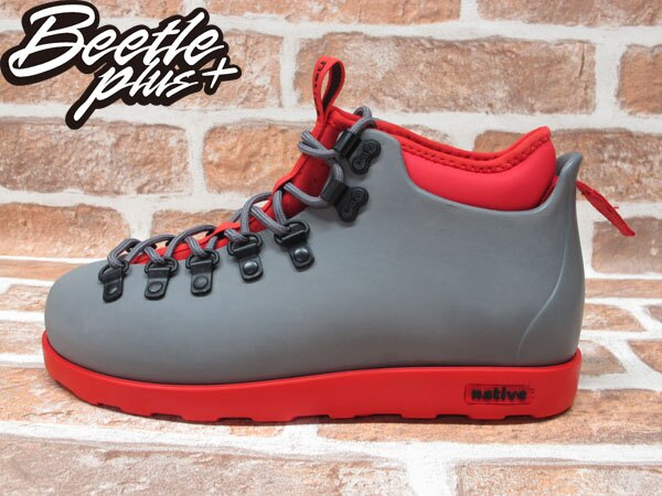 西門町專賣 BEETLE PLUS 全新 加拿大 NATIVE FITZSIMMONS BOOTS 灰紅 超輕量 登山靴 GLM06-964 0