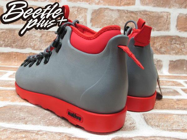 西門町專賣 BEETLE PLUS 全新 加拿大 NATIVE FITZSIMMONS BOOTS 灰紅 超輕量 登山靴 GLM06-964 2