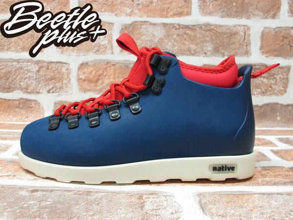 西門町專賣 BEETLE PLUS 全新 加拿大 NATIVE FITZSIMMONS BOOTS 藍紅 超輕量 登山靴 GLM06-962 0