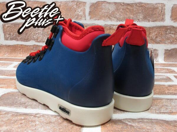 西門町專賣 BEETLE PLUS 全新 加拿大 NATIVE FITZSIMMONS BOOTS 藍紅 超輕量 登山靴 GLM06-962 2