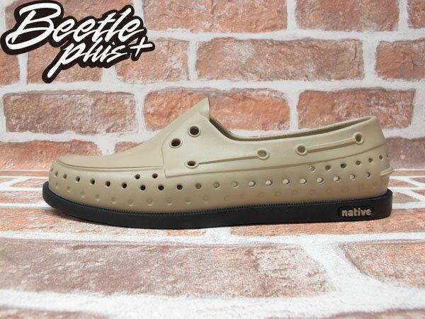 BEETLE PLUS 西門町專賣 全新 NATIVE HOWARD PEANUT BROWN WITH JIFFY BLACK 卡其黑 輕量 帆船鞋 GLM11-282 0