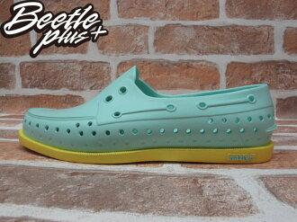 《限時6折免運》BEETLE PLUS 2013 春夏 NATIVE HOWARD JULEP GREEN MELLOW YELLOW TIFFANY 綠黃 雷根 雙色 帆船鞋 GLM11-331