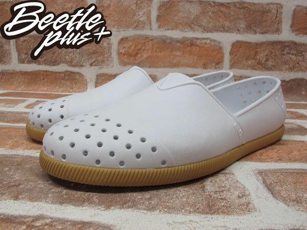 《下殺$1499》BEETLE PLUS 西門町專賣 2013 全新 NATIVE VERONA 水手鞋 超輕量 SHELL WHITE GUM 白 膠底 GLM18-120 1
