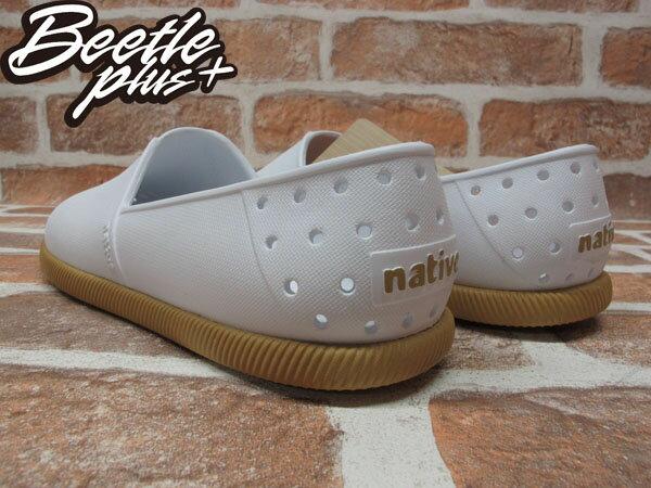 《下殺$1499》BEETLE PLUS 西門町專賣 2013 全新 NATIVE VERONA 水手鞋 超輕量 SHELL WHITE GUM 白 膠底 GLM18-120 2