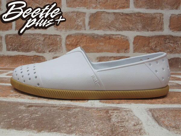 《下殺$1499》BEETLE PLUS 西門町專賣 2013 全新 NATIVE VERONA 水手鞋 超輕量 SHELL WHITE GUM 白 膠底 GLM18-120 0