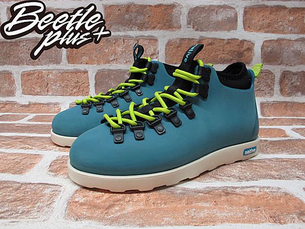 《限時6折免運》BEETLE PLUS NATIVE FITZSIMMONS GLORY BLUE 湖水藍 螢光 綠 超輕量 登山靴 GLM06P-425 1