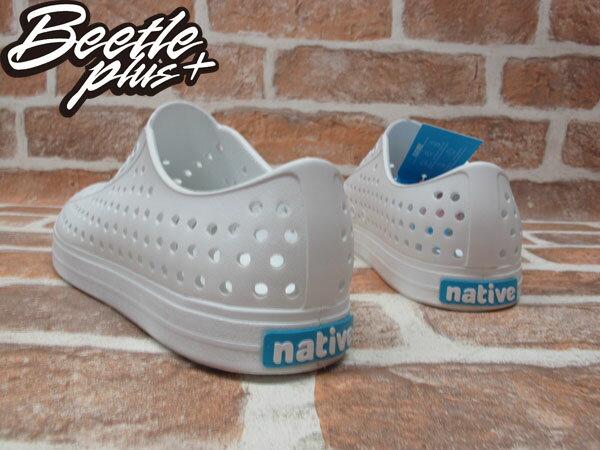 《下殺$1499》BEETLE PLUS 西門町 2014 全新 NATIVE JEFFERSON SWS 超輕量 便鞋 白色 全白 奶油 洞洞 GLM01-125 2