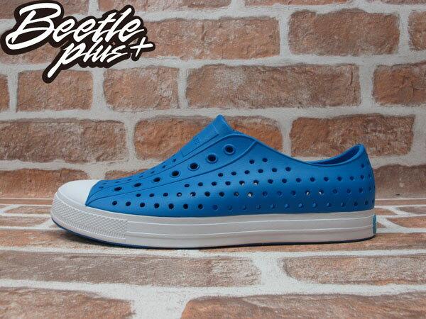 BEETLE PLUS 全新 2014 春夏 NATIVE JEFFERSON GALAXY BLUE 藍 白底 奶油頭 GLM01-401 0