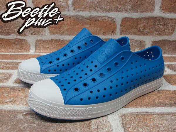 BEETLE PLUS 全新 2014 春夏 NATIVE JEFFERSON GALAXY BLUE 藍 白底 奶油頭 GLM01-401 1